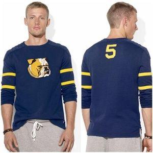 POLO RALPH LAUREN 'BULLDOG' Varsity Crewneck Shirt